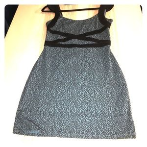 Free people teal dress with black accents